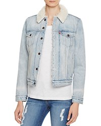 Levi's Authentic Sherpa Denim Trucker Jacket East Alley