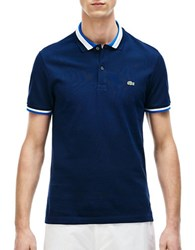 Lacoste Slim Fit Fancy Polo Shirt Navy