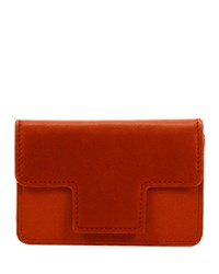 Tom Ford Colorblock Leather Card Holder Medium Red