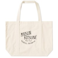 Maison Kitsune Palais Royal Tote Bag Neutrals