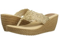 Sbicca Porto Natural Women's Wedge Shoes Beige