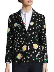 Thom Browne Lily Of The Valley Blazer Black
