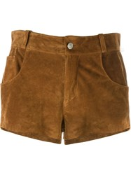 Au Jour Le Jour Fringed Short Shorts Brown