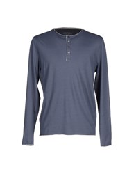 Alpha Studio Topwear T Shirts Men Slate Blue