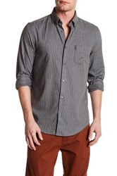 Ben Sherman Modern Striped Regular Fit Shirt Gray