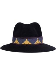 Maison Michel 'Henrietta' Diamond Band Hat Blue