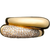 Links Of London Hope 18Ct Yellow Gold Double Diamond Ring