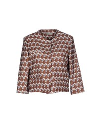 Alysi Suits And Jackets Blazers Women Brown