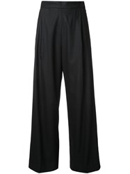 H Beauty And Youth Pleated High Waisted Trousers Black