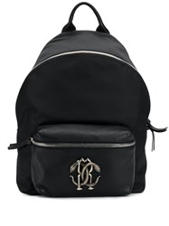 Roberto Cavalli Rc Logo Backpack Black