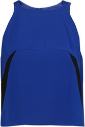 Milly Cropped Stretch Jersey Top Blue