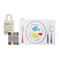 Eat Sleep Doodle Placemat To Go Mealtime Fun
