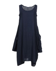 Saint Tropez Knee Length Dresses Dark Blue