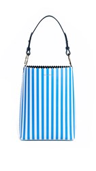 Mother Of Pearl Ora Bucket Bag Blue White