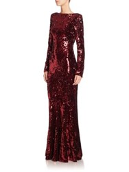 Talbot Runhof Lorena Sequin Gown Red