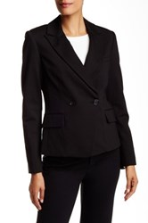 Pink Tartan Double Breasted Stretch Tux Jacket Black