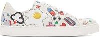 Anya Hindmarch White All Over Wink Stickers Tennis Sneakers