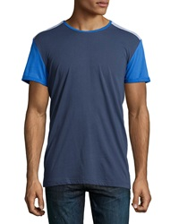 Sovereign Code Knoxville Colorblock Mesh Trim Tee Navy