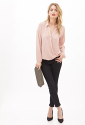 Forever 21 Collared Surplice Blouse