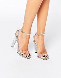 Paper Dolls Lilly Silver Strap Heeled Sandals Silver