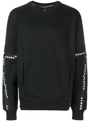Versus Branded Bands Sweater Black