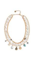 Chan Luu White Pearl Mix Necklace