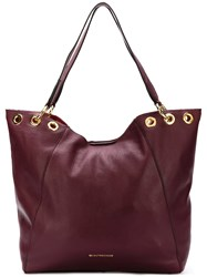 L'autre Chose Open Top Tote Pink And Purple