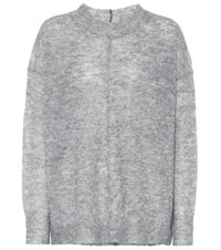 Etoile Isabel Marant Chestery Mohair Blend Sweater Grey
