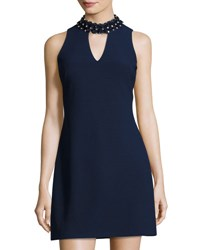Taylor Sleeveless Embellished Neck Dress Midnight