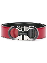 Salvatore Ferragamo Gancio Buckle Belt Red