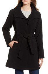 Gallery Nepage Water Repellent Trench Coat Black