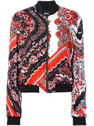 Just Cavalli Paisley Patterned Bomber Black