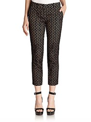 Michael Kors Cropped Eyelet Pants Black
