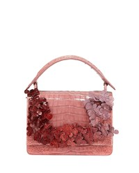 Nancy Gonzalez Divino Small Floral Shoulder Bag Pink