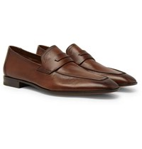 Berluti Lorenzo Leather Loafers Brown