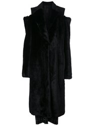 Vera Wang Faux Fur Coat Black
