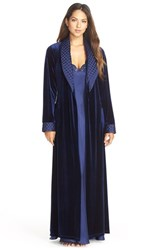 Women's Jonquil 'Taylor' Velvet And Satin Robe