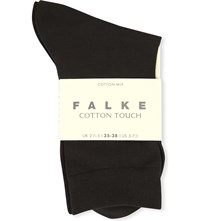 Falke Cotton Touch Stretch Cotton Ankle Socks 3529 Anthra New