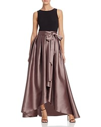 Dylan Gray Mixed Media High Low Gown Black Cocoa