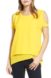 Chaus Women's Cold Shoulder Layered Blouse