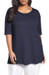 Eileen Fisher Plus Size Women's Organic Linen And Cotton Tunic Midnight