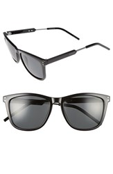 Polaroid Men's Eyewear 55Mm Polarized Sunglasses Shiny Black