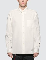 Uniform Experiment Gabardine Embroidery Logo B.D Shirt White