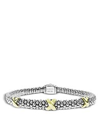 Lagos 18K Gold And Sterling Silver Rope Bracelet Gold Silver
