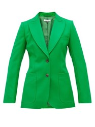 Bella Freud Saint James Single Breasted Wool Twill Jacket Green