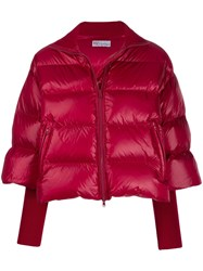 Red Valentino Cropped Sleeve Puffer Jacket Black
