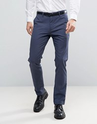 Ted Baker Chino In Mini Check Navy