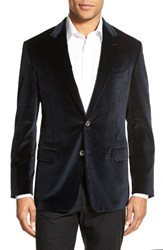 Men's Big And Tall Hickey Freeman Classic Fit Velvet Dinner Jacket Navy