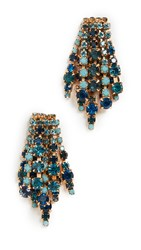 Elizabeth Cole Bette Earrings Blue Ombre