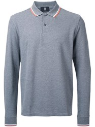 Kent And Curwen Striped Collar Polo Shirt Grey